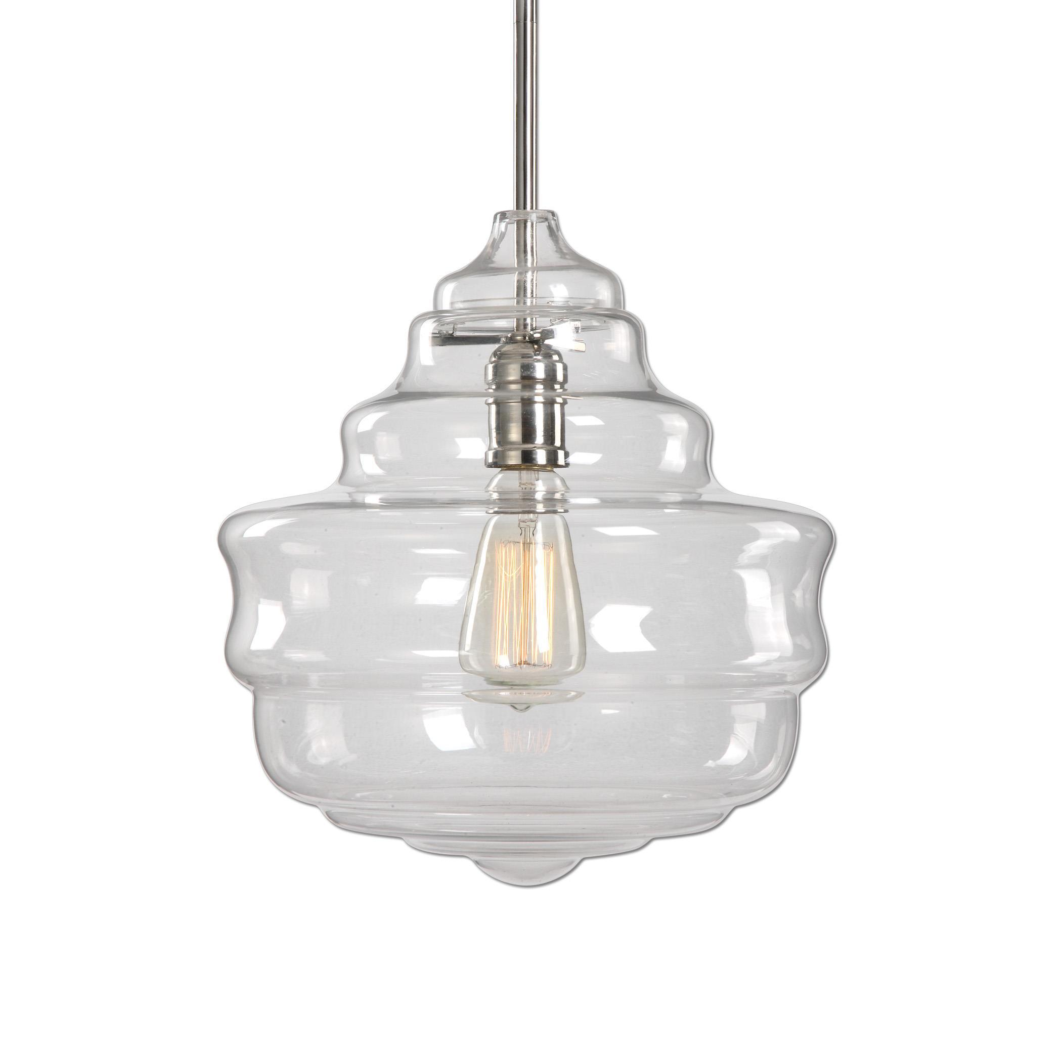 Uttermost Lighting Fixtures Bristol 1 Light Beehive Glass Pendant - Item Number: 22059