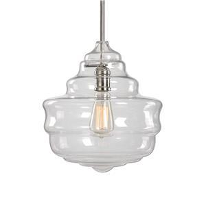 Uttermost Lighting Fixtures Bristol 1 Light Beehive Glass Pendant