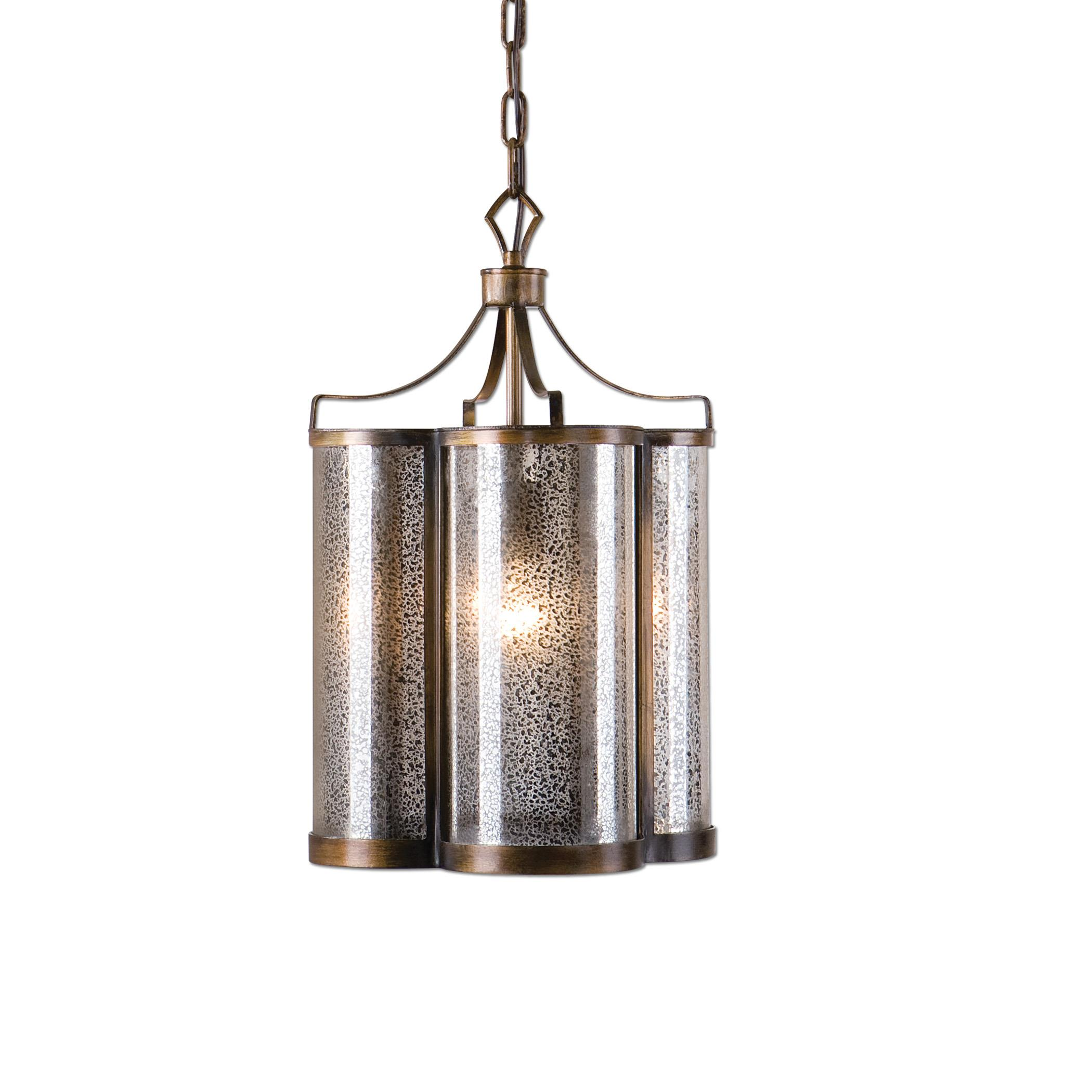 Uttermost Lighting Fixtures Croydon 1 Light Mercury Glass Pendant - Item Number: 22061