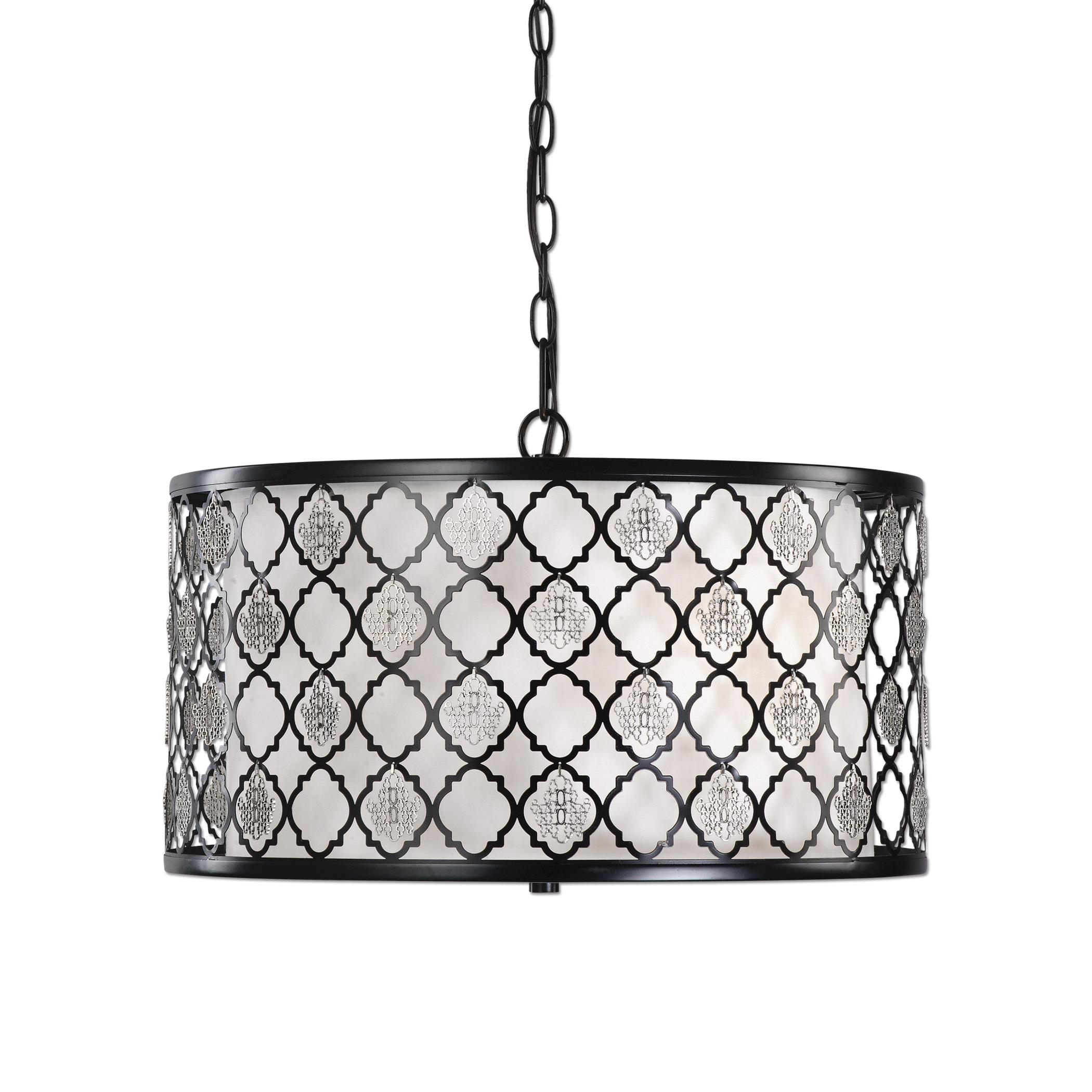 Uttermost Lighting Fixtures Filigree 3 Light Drum Pendant - Item Number: 22062