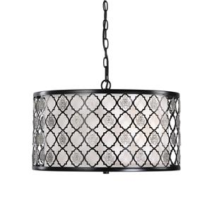 Uttermost Lighting Fixtures Filigree 3 Light Drum Pendant