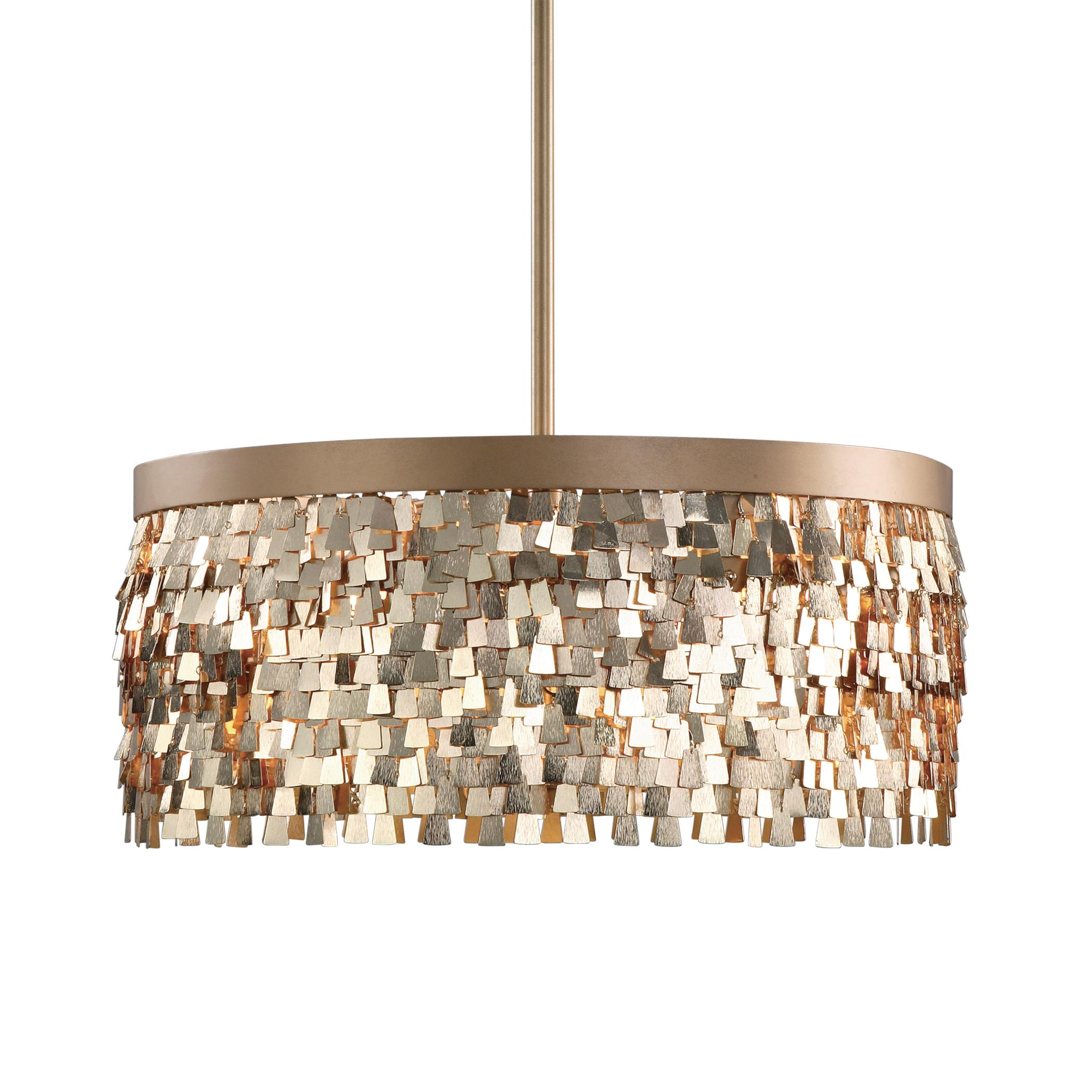 Uttermost Lighting Fixtures Tillie 3 Light Textured Gold Pendant - Item Number: 22064