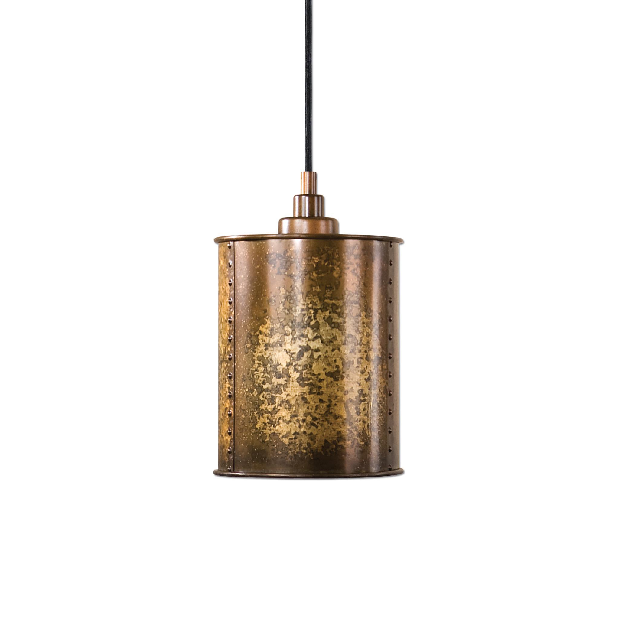 Uttermost Lighting Fixtures Wolcott 1 Light Golden Mini Pendant - Item Number: 22065