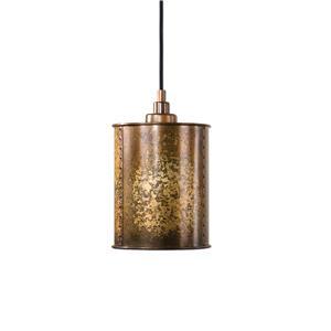 Uttermost Lighting Fixtures Wolcott 1 Light Golden Mini Pendant