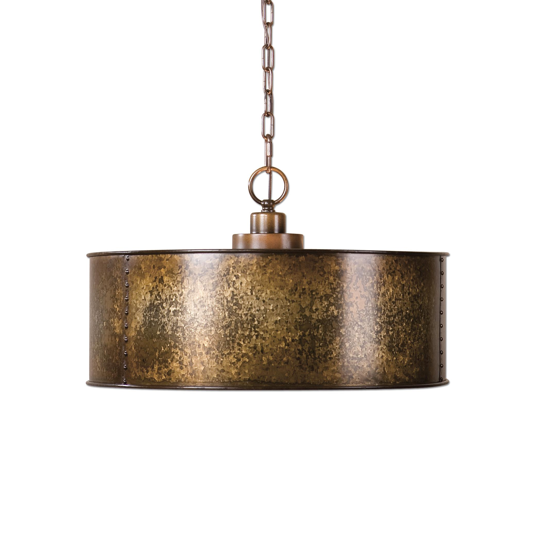 Uttermost Lighting Fixtures Wolcott 3 Light Golden Pendant - Item Number: 22066