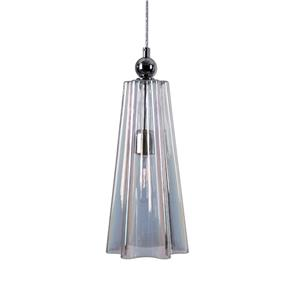 Uttermost Lighting Fixtures Beckley 1 Light Fluted Glass Mini Pendant