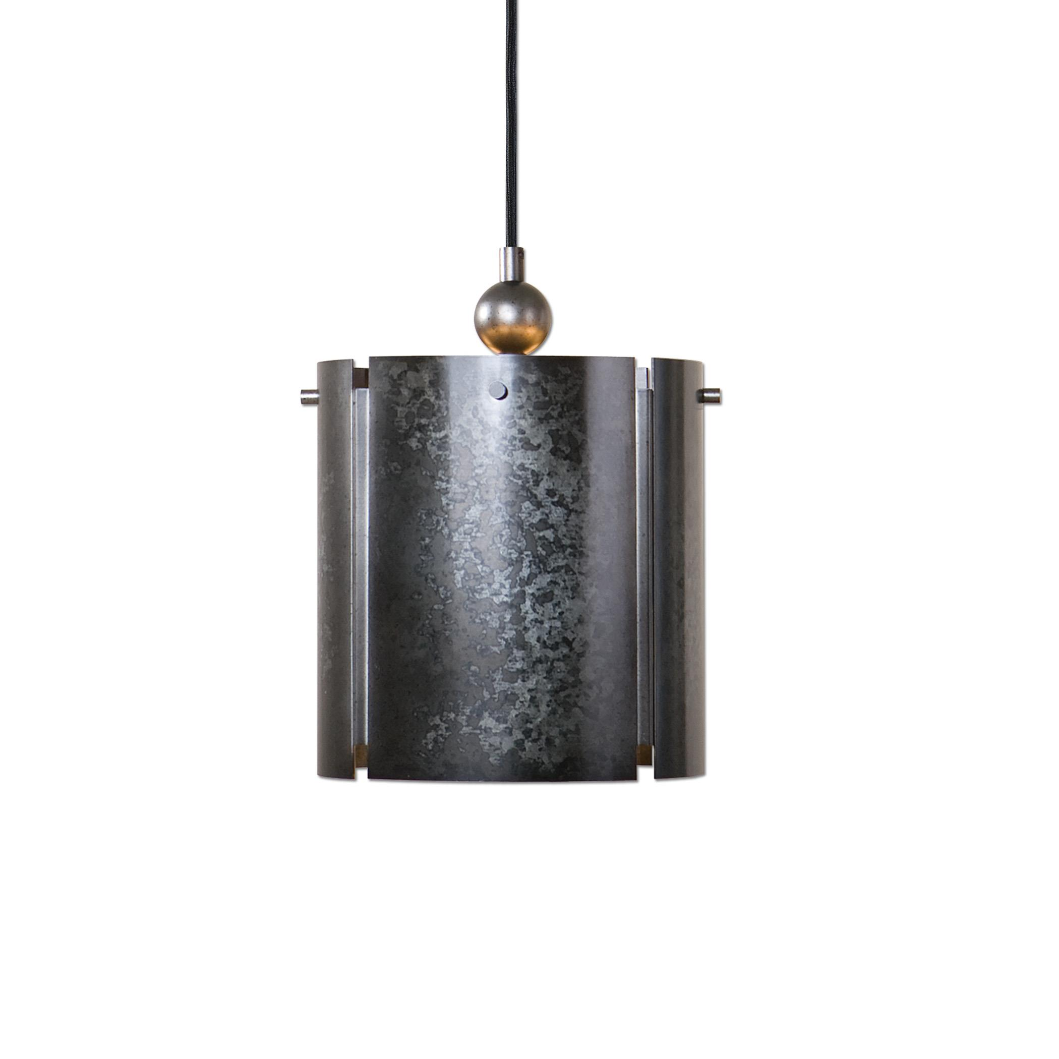 Uttermost Lighting Fixtures Norton 1 Light Mini Galvanized Metal Pendant - Item Number: 22069