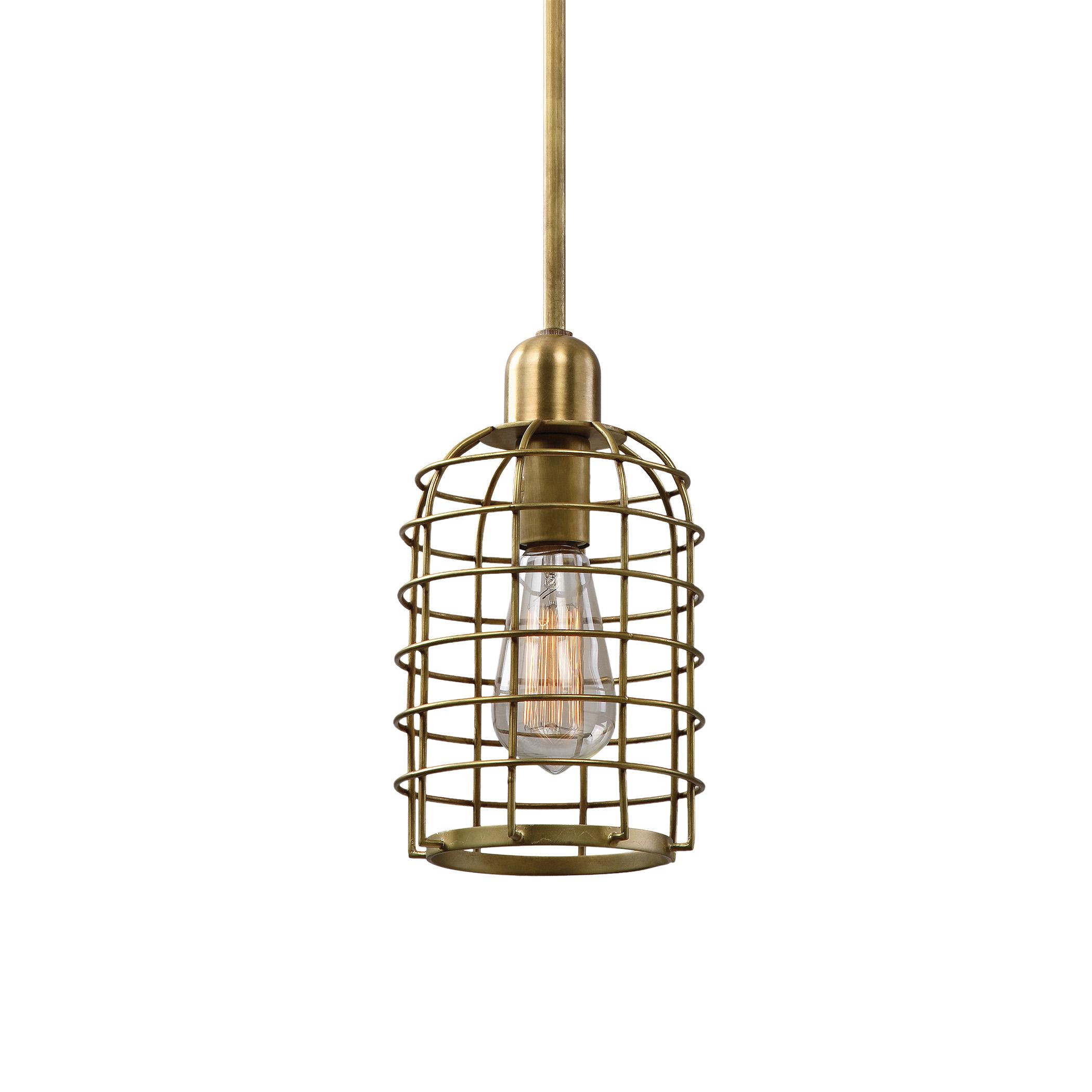 Uttermost Lighting Fixtures Septa 1 Light Cage Mini Pendant - Item Number: 22070