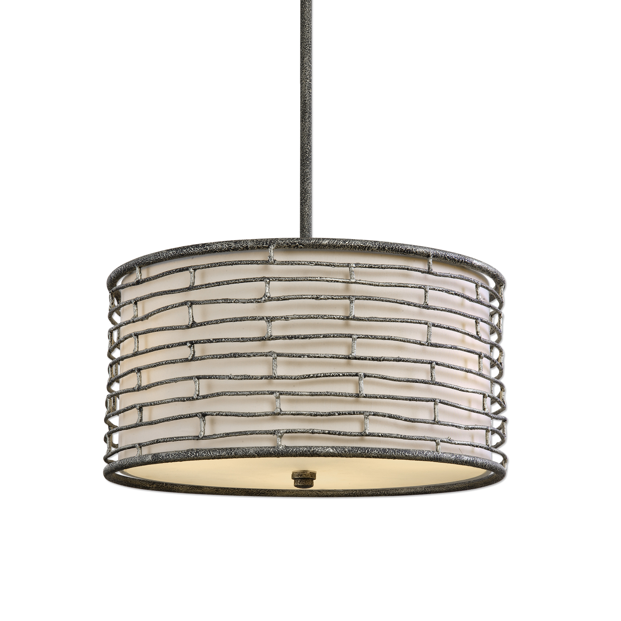 Uttermost Lighting Fixtures Smida 3 Light Rustic Hanging Shade - Item Number: 22071