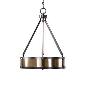 Uttermost Lighting Fixtures Tegus 3 Light Drum Pendant