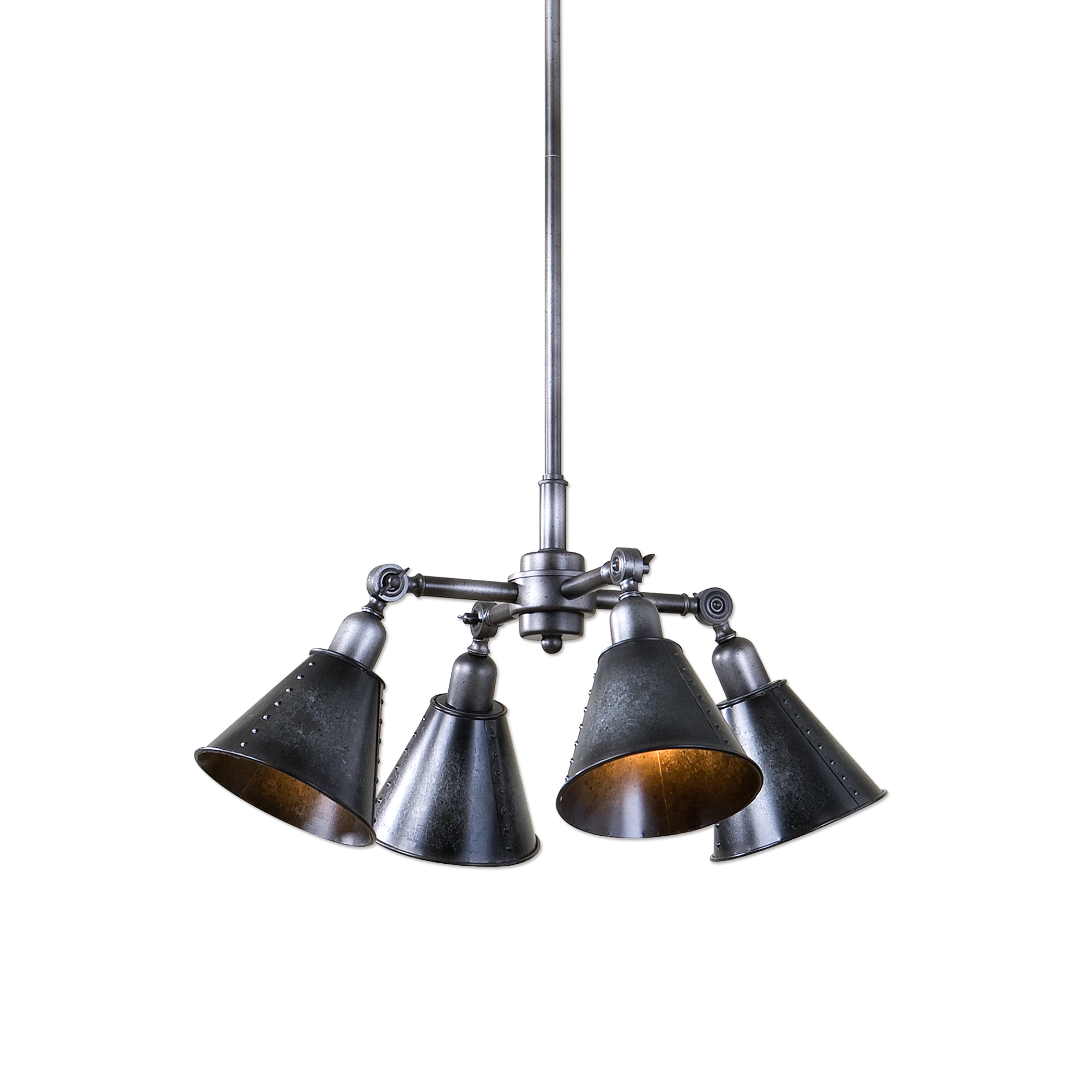 Uttermost Lighting Fixtures Fumant 4 Light Industrial Pendant - Item Number: 22075