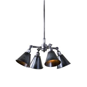 Uttermost Lighting Fixtures Fumant 4 Light Industrial Pendant