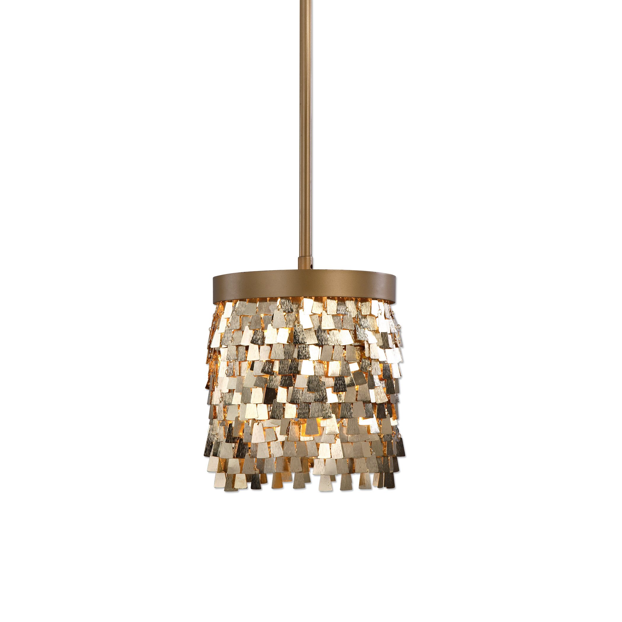 Uttermost Lighting Fixtures Tillie 1 Light Gold Mini Pendant - Item Number: 22077