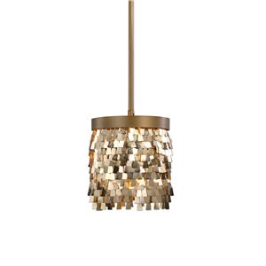 Uttermost Lighting Fixtures Tillie 1 Light Gold Mini Pendant