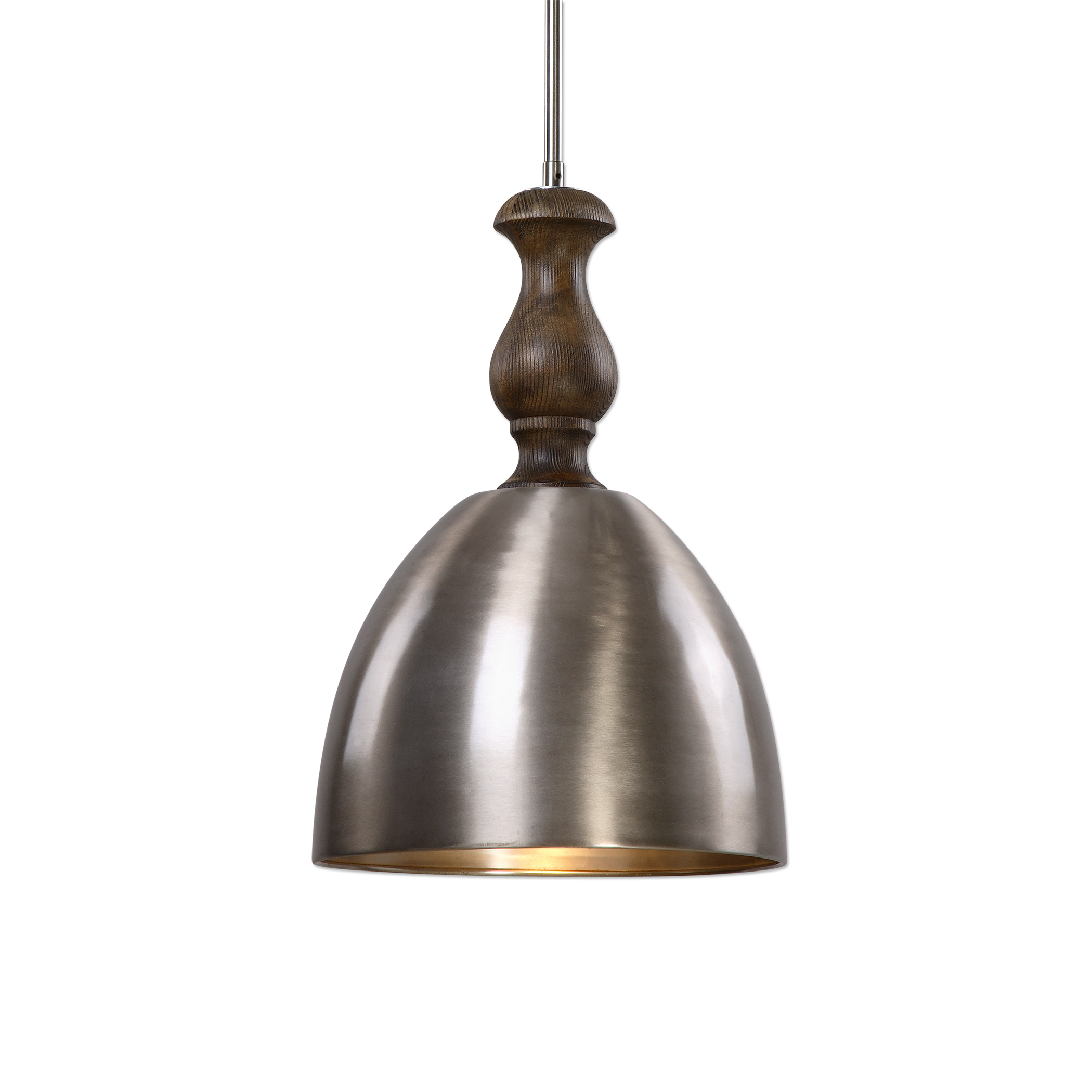 Uttermost Lighting Fixtures Luna 1 Light Aluminum Mini Pendant - Item Number: 22078