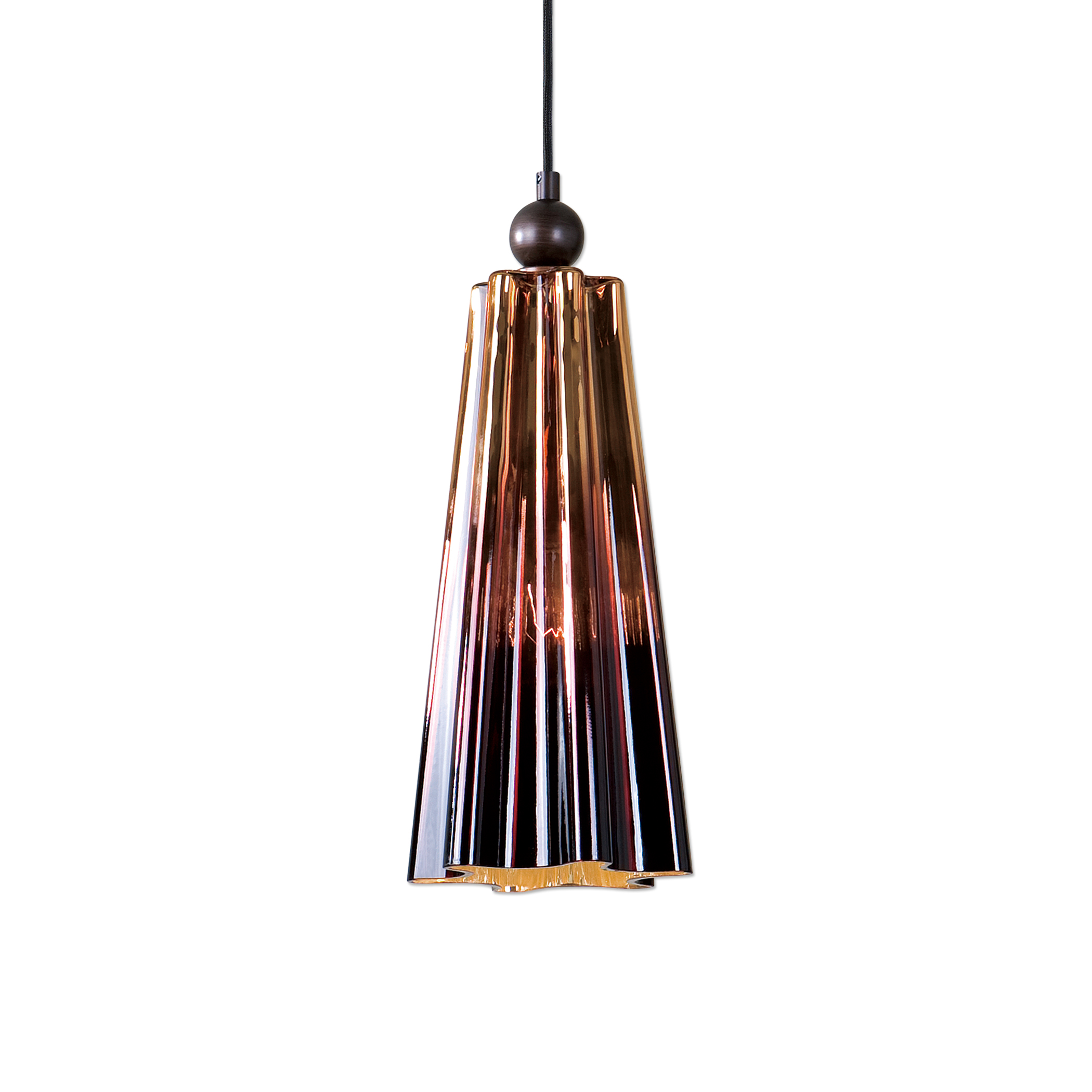 Uttermost Lighting Fixtures Chocley 1 Light Glass Mini Pendant - Item Number: 22079
