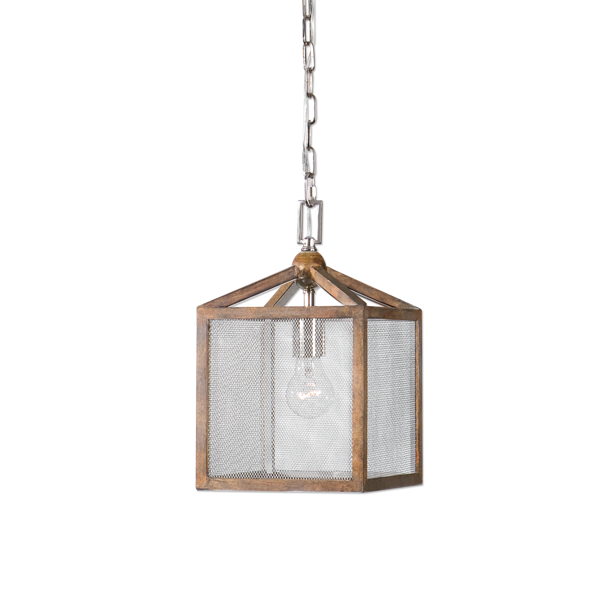 Uttermost Lighting Fixtures Nashua Wooden 1 Light Mini Pendant - Item Number: 22080