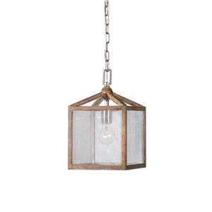 Uttermost Lighting Fixtures Nashua Wooden 1 Light Mini Pendant