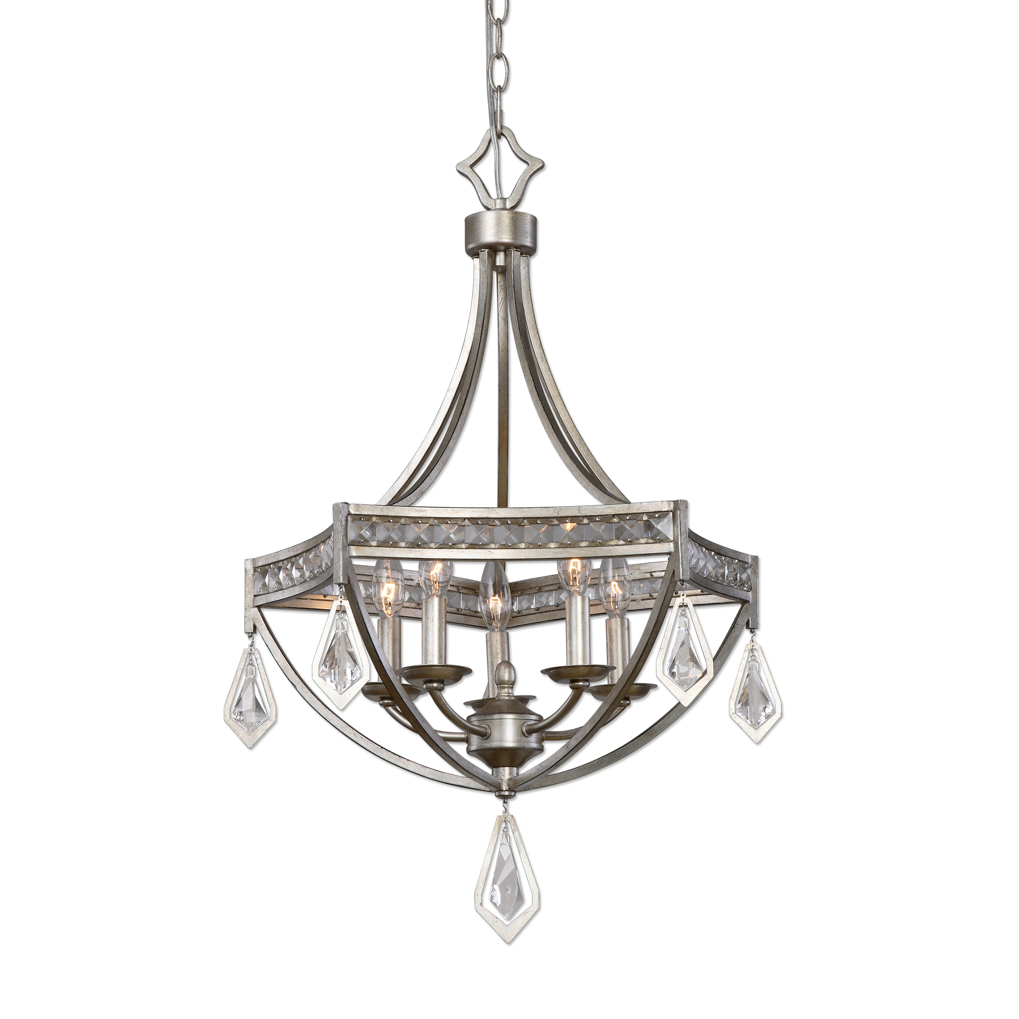 Uttermost Lighting Fixtures Tamworth Modern 5 Light Pendant - Item Number: 22081