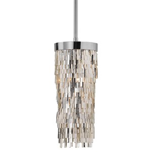 Uttermost Lighting Fixtures Millie 1 Light Chrome Mini Pendant