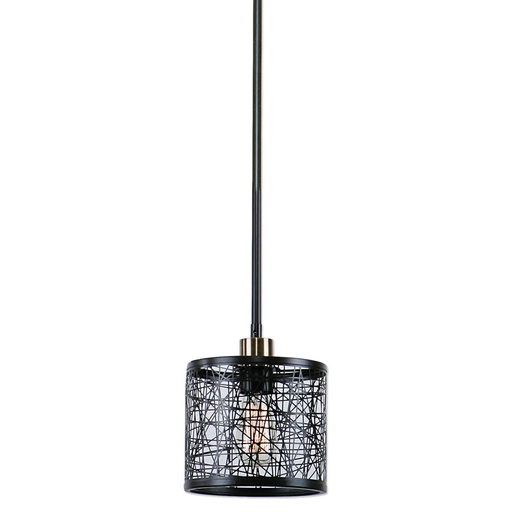 Uttermost Lighting Fixtures ThinAlita 1 Light Bronze Mini Pendant - Item Number: 22083