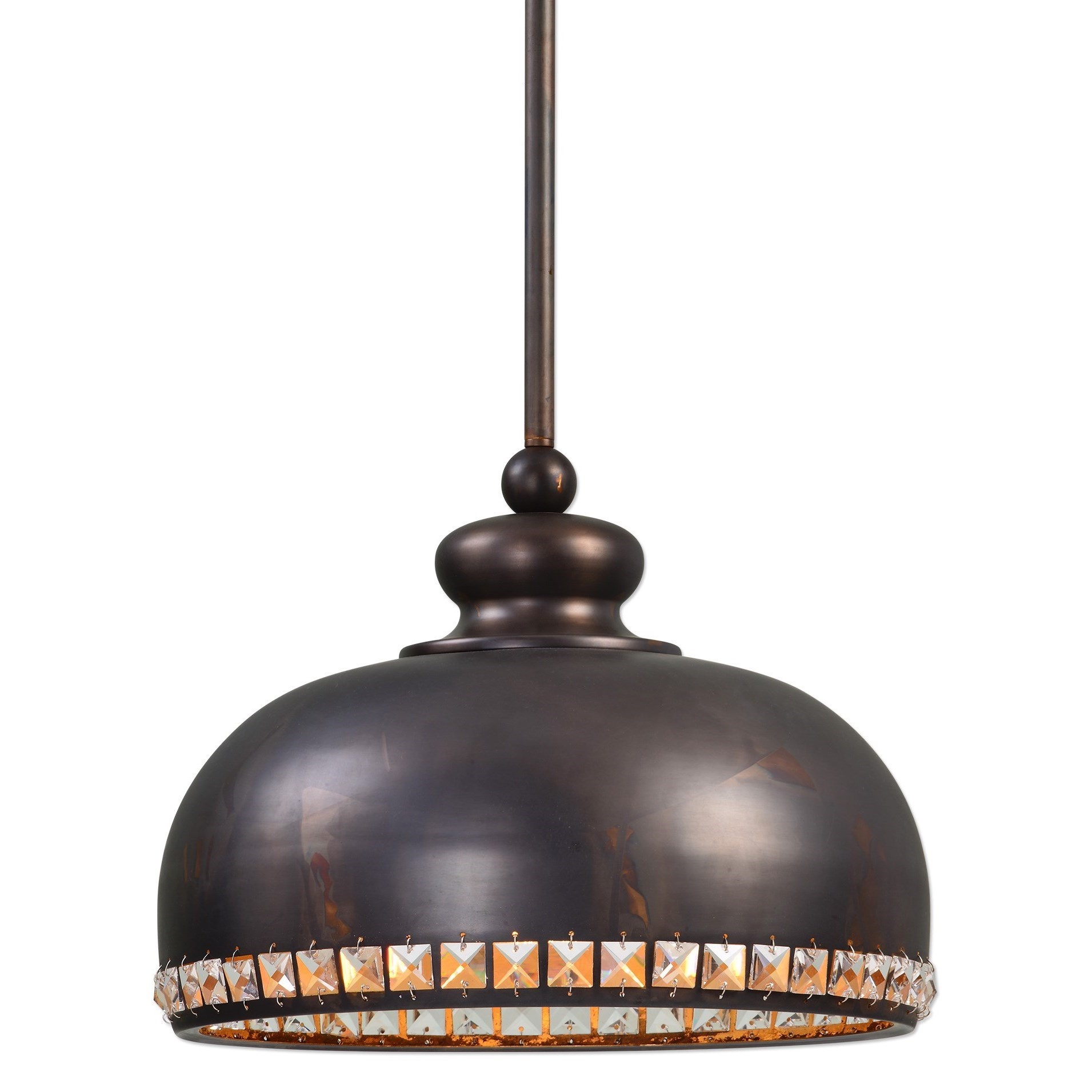 Uttermost Lighting Fixtures Brusett 1 Light Distressed Bronze Pendant - Item Number: 22084