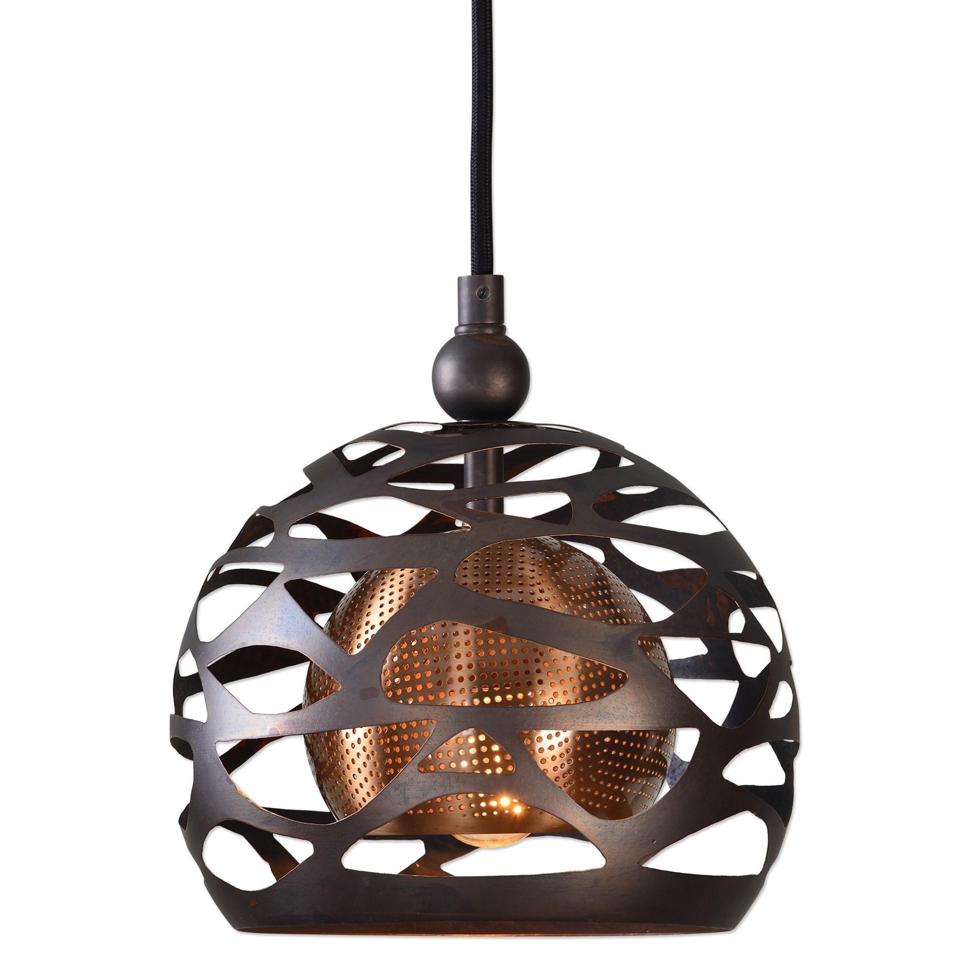 Uttermost Lighting Fixtures Parth 1 Light Bronze Mini Pendant - Item Number: 22085