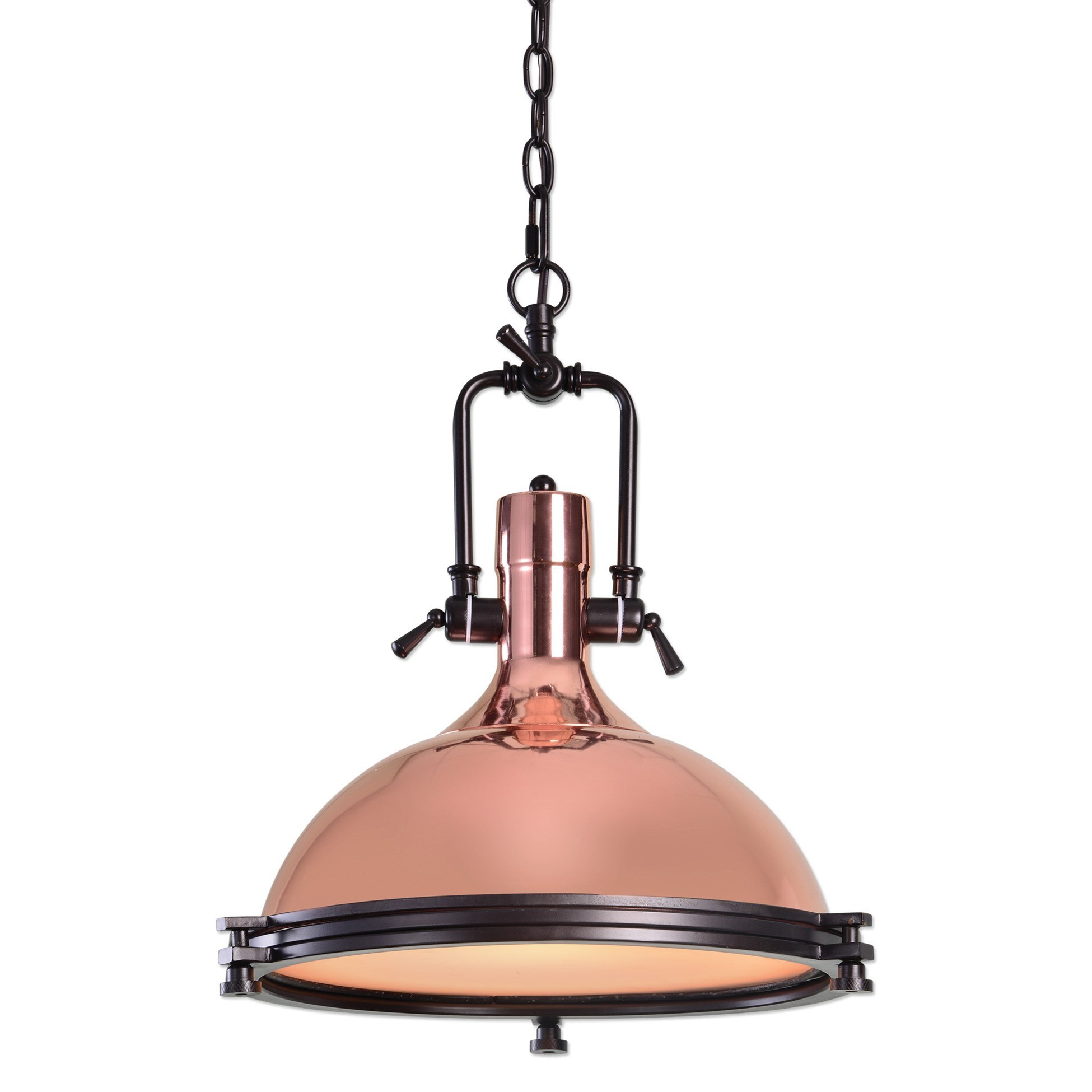 Uttermost Lighting Fixtures Bingham 1 Light Industrial Pendant - Item Number: 22086