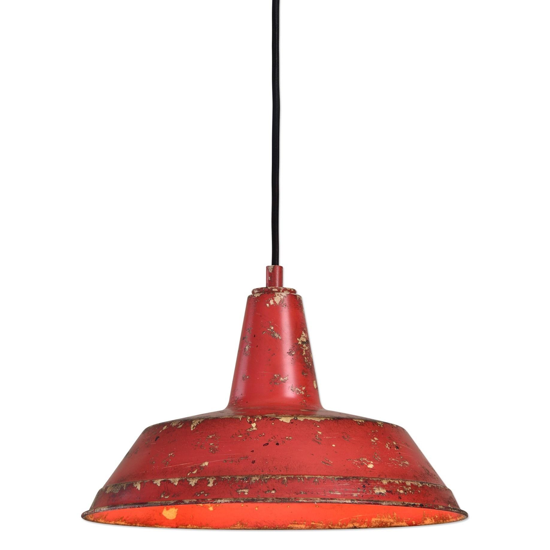 Uttermost Lighting Fixtures Pomodoro 1 Light Distressed Pendant - Item Number: 22088