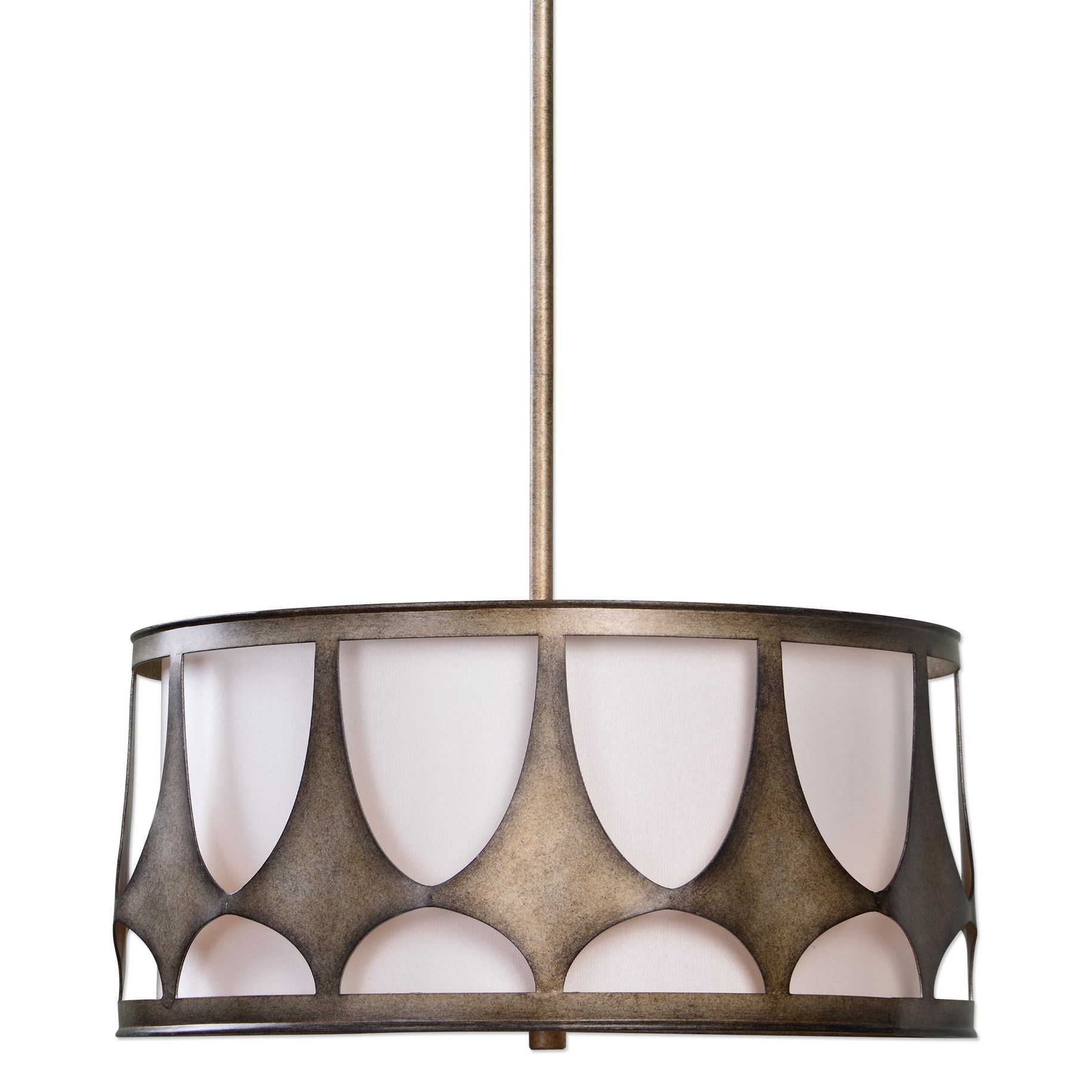 Uttermost Lighting Fixtures Ingevald 4 Light Drum Pendant - Item Number: 22089