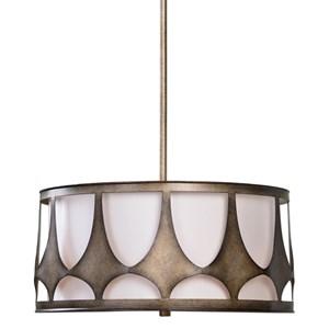 Uttermost Lighting Fixtures Ingevald 4 Light Drum Pendant