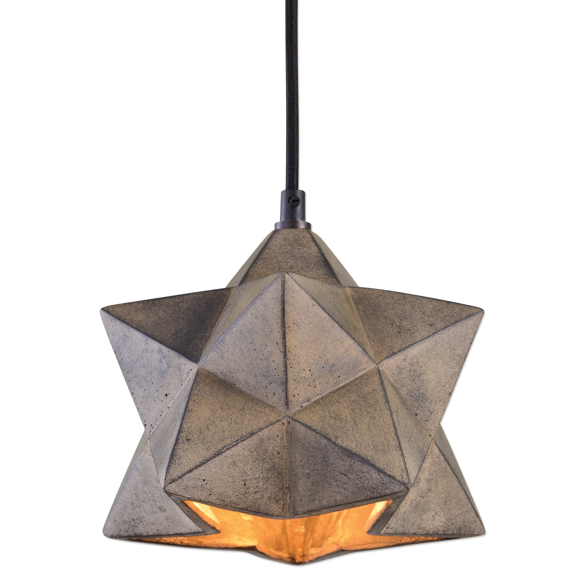 Uttermost Lighting Fixtures Rocher 1 Light Geometric Pendant - Item Number: 22094