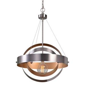 Uttermost Lighting Fixtures Anello 1 Light Brushed Nickel Pendant