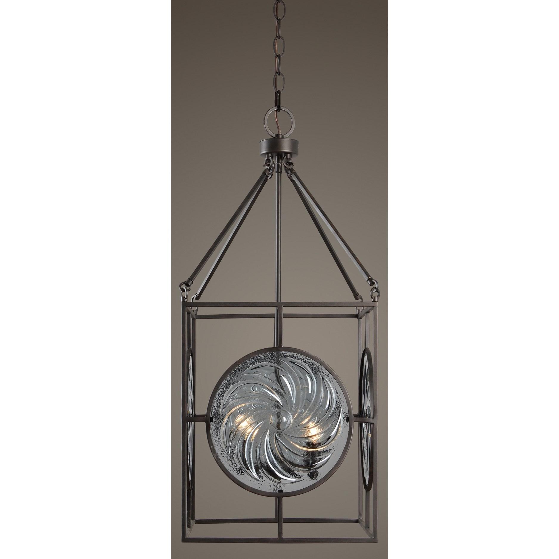Uttermost Lighting Fixtures Volute 4 Lt Pendant Dunk & Bright Furniture Pendant Lights