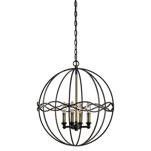 Uttermost Lighting Fixtures  Onduler 4Lt. Pendant