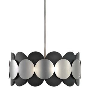 Uttermost Lighting Fixtures Zooey 3 Light Nickel Pendant