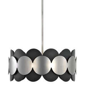 Uttermost Lighting Fixtures Zooey 3 Light Nickel Pendant