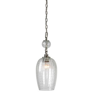 Uttermost Lighting Fixtures Swiss Dot 1 Light Nickel Mini Pendant