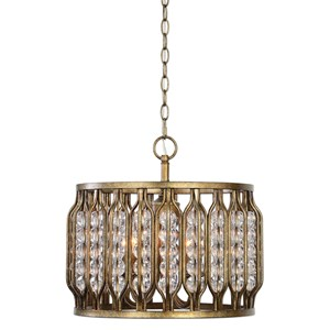 Uttermost Lighting Fixtures Jensen 4 Light Swedish Iron Pendant