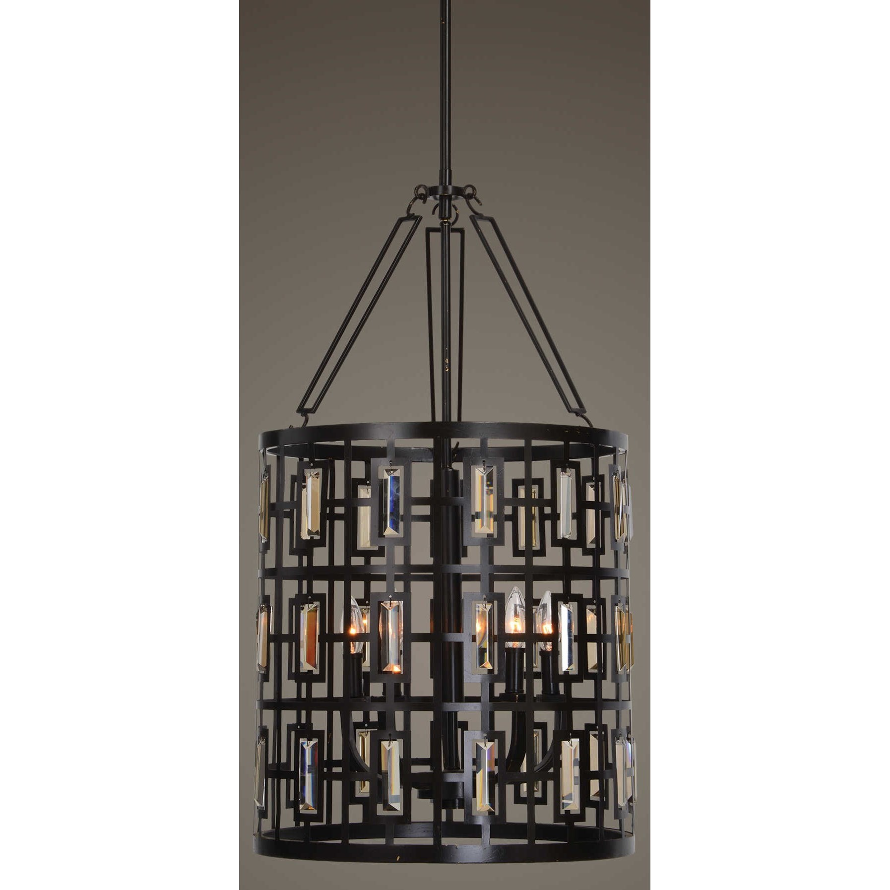 Uttermost Lighting Fixtures Rhombus 5 Light Lantern Bronze