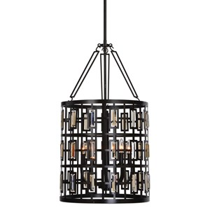 Uttermost Lighting Fixtures Rhombus 5 Light Lantern Bronze Pendant