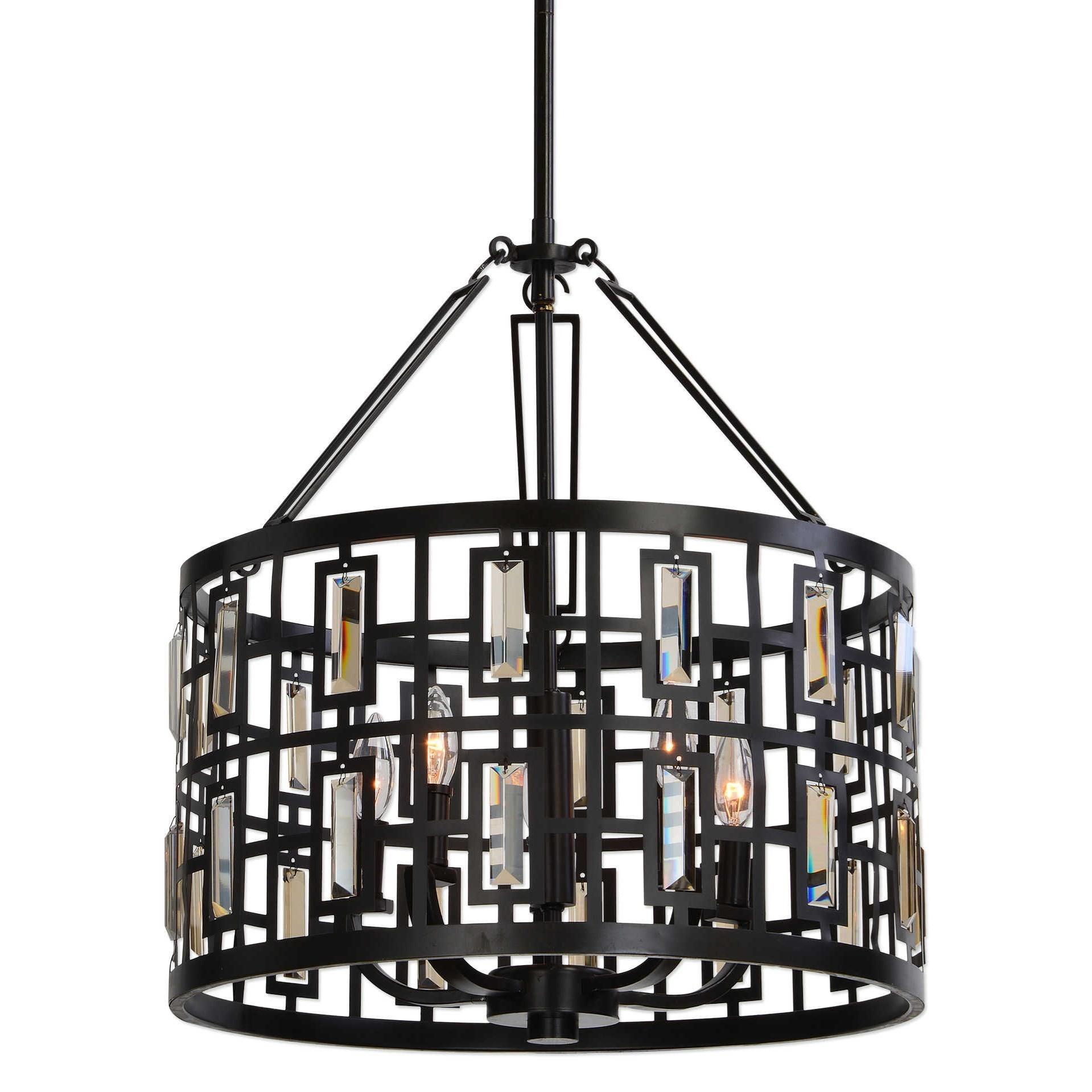 Uttermost lighting fixtures 22115 rhombus 5 light bronze pendant del sol furniture pendant - Spectacular modern pendant lighting fixtures as center of attention ...