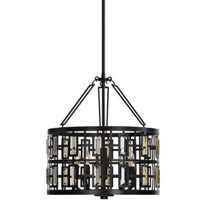 Uttermost Lighting Fixtures Rhombus 5 Light Bronze Pendant