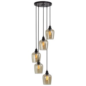 Uttermost Lighting Fixtures Aarush 5 Light Glass Cluster Pendant
