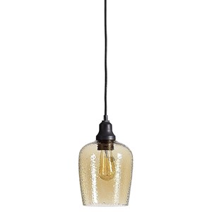 Aarush Amber Glass 1 Light Mini Pendant
