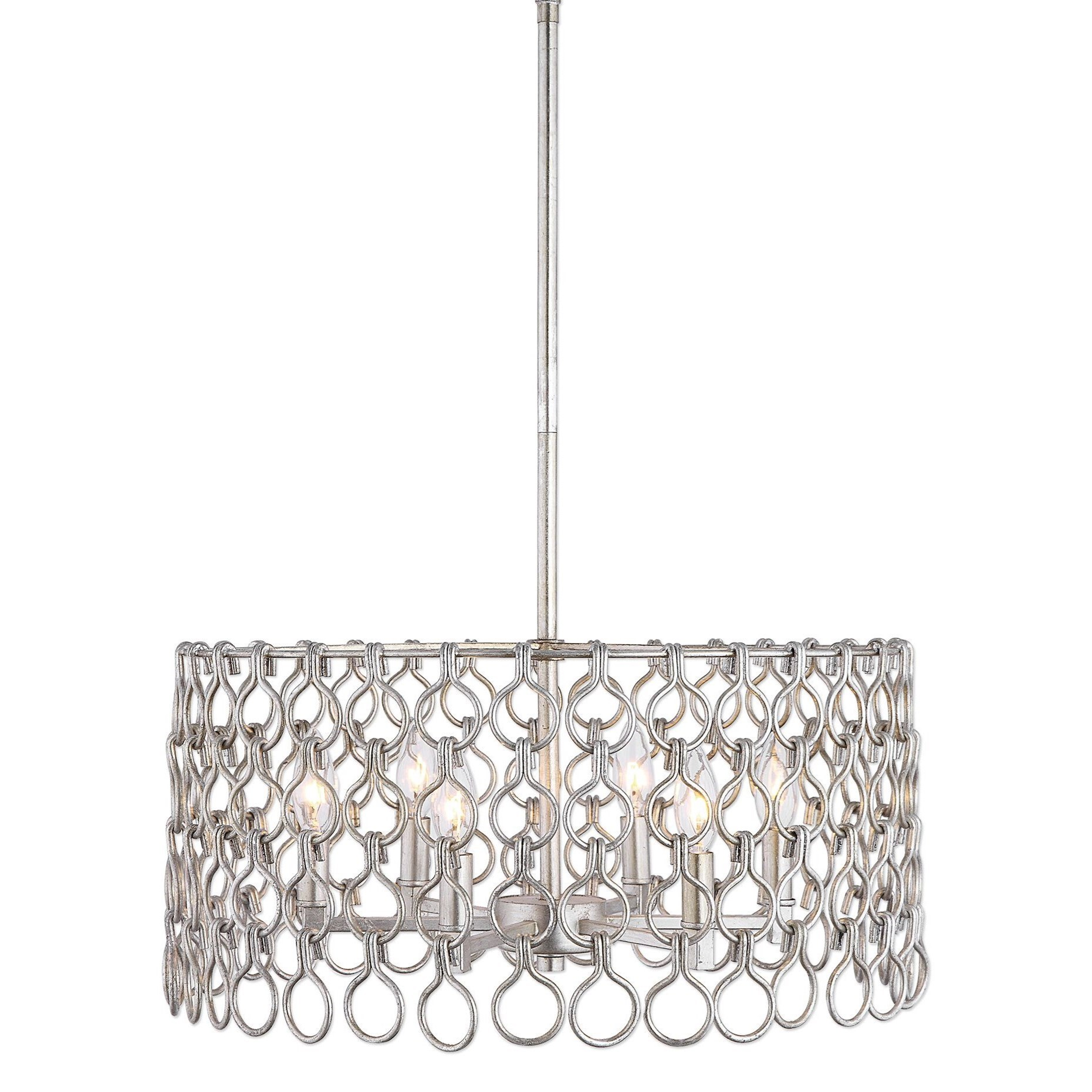 Maille 6 Light Silver Pendant
