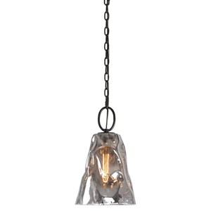 Uttermost Lighting Fixtures Drappo Smoked Glass 1 Light Mini P