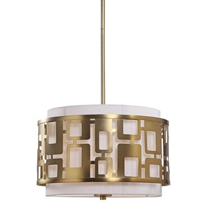 Vecta 3 Light Brass Pendant