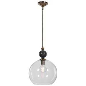 Mendota 1 Light Glass Pendant