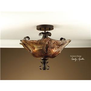Uttermost Lighting Fixtures Vetraio 2-Light Semi Flush Mount